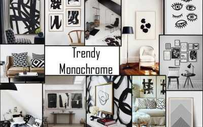 Trendy Monochrome Trend Board